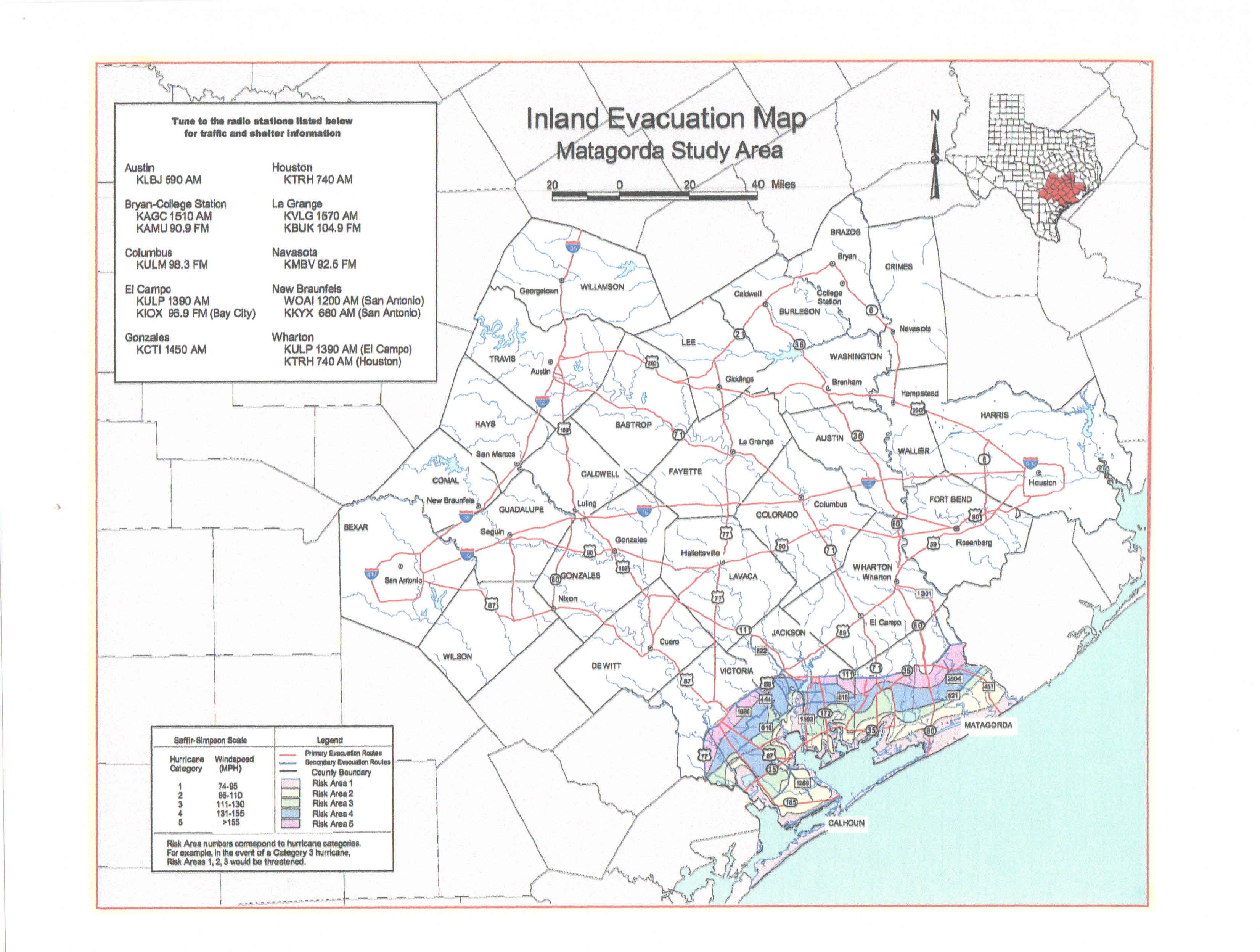 Inland Evacuation Map