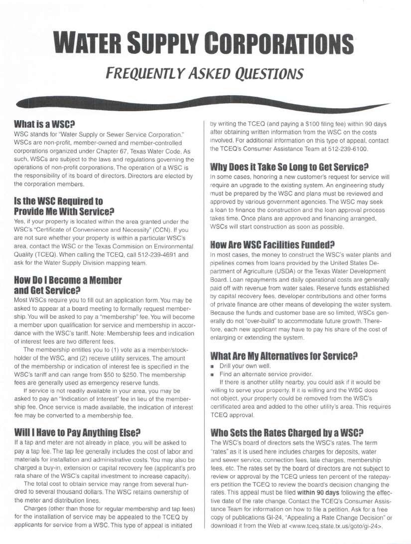 WSC FAQ